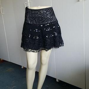 Girl's  black.lace skirt